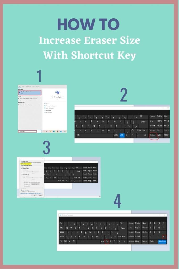 How To Increase Eraser Size With Shortcut Key