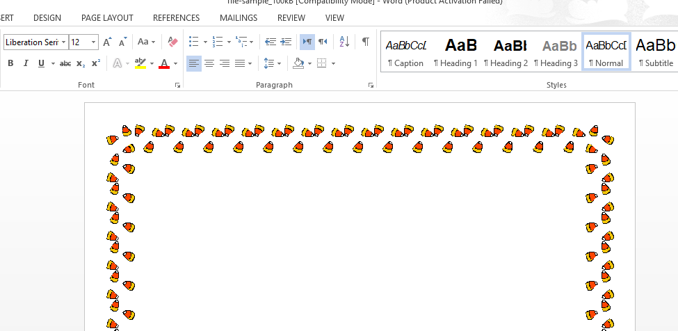 how do you add a stylish border in word