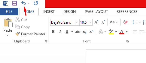 how to undo in word
