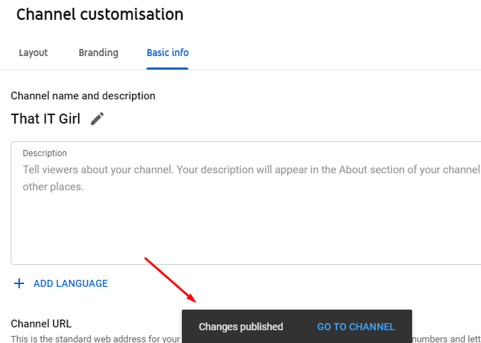 how to change youtube channel name on pc