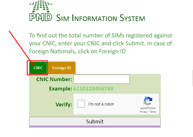 How to Check SIMs on CNIC?