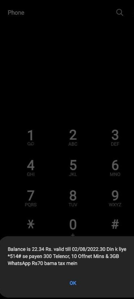 telenor balance check code 2021